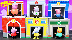 peppa pig learning colors in nesting town george pig searches