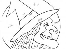 download halloween coloring pages with math