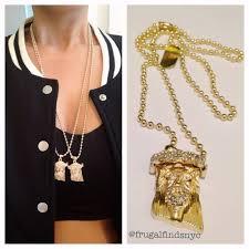 gold jesus pendant necklace images Mini jesus piece pendant frugal finds nyc jpg