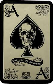 the ace of spades skull genuine leather patch leather back patches