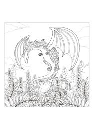 monster dragon myths u0026 legends coloring pages for adults