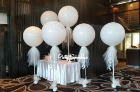large white balloons tulle balloons sydney party splendour delivery 7 daysparty