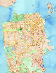 San Francisco On World Map by Stamen Design U0027s Watercolor San Francisco 20x200
