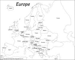 European Union Blank Map by Outline Base Maps