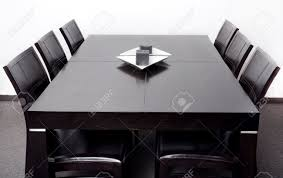 Dining Table And Six Chairs New Stylish Modern Dining Table With Six Chair Set Stock Photo