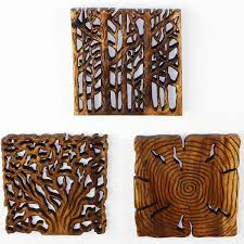 tree of thai wall decor carved wood panels oak or walnut