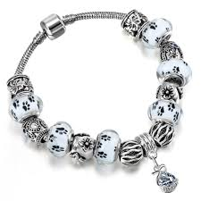 silver rope charm bracelet images Limited edition love dogs paw charm bracelet finer dogs jpg