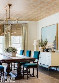 Neutral Dining Rooms 2017 Grasscloth Wallpaper A Sophisticated And Neutral Home In Concord Massachusetts