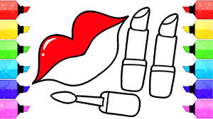 lips and lipstick coloring pages learn how to draw lips and