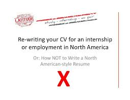 Cv Versus Resume How To Write An American Resume Education On A German Resume Us