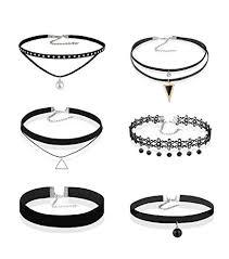 velvet choker necklace pendant images 6 pcs womens black velvet choker necklace for women girls lace jpg