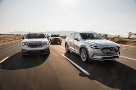 mazda cars canada family vehicle feud 2017 gmc acadia vs 2016 mazda cx 9 vs 2017