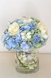 white and blue floral arrangements ideas with hydrangeas centerpieces hydrangea centerpieces and