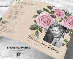 sle of funeral programs vintage lavender roses funeral program funeral folder