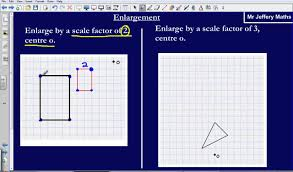 enlargement by a scale factor edexcel gcse maths youtube