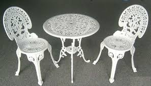 decor of white wrought iron patio furniture patio decorating cast