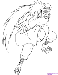 draw jiraiya step step naruto characters anime draw