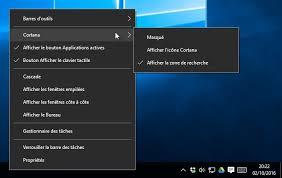 supprimer icone bureau windows 10 cacher réduire ou supprimer cortana de la barre des