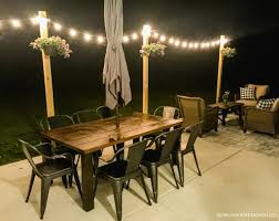 Patio String Lighting by Outdoor String Lights On Diy Posts Simply Kierste Design Co