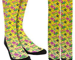 mardi gras socks mardi gras socks etsy