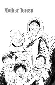 bp blogspot com mother teresa with children coloring page madre