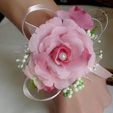 Wedding Wrist Corsage New Bridal Wrist Corsage Wedding Prom Hand Artificial Silk