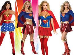 Woman Superhero Halloween Costumes Womens Superhero Supergirl Superwomen Costume Halloween Fancy