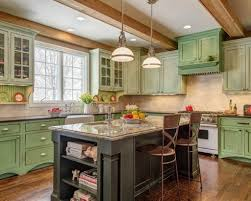 country green kitchen cabinets french country kitchen ideas with black rustic island and chalk