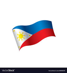 philippines flag royalty free vector image vectorstock