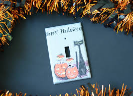 retro halloween light switch covers mod podge rocks