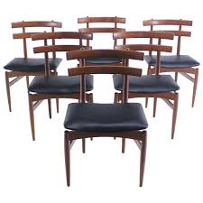 Danish Dining Room Chairs Set Of Six Rare Danish Modern Dining Chairs Designed By Poul