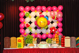 funny ballon wall accessory for child party desaign ideas with