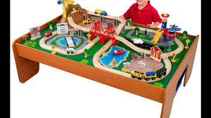 review kidkraft ride around train set and table youtube