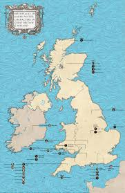 Great Britain On World Map by Birthplaces Of Harry Potter Characters In Great Britain And