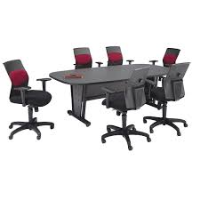 Conference Table With Chairs Modular Conference Table U0026 Six Airflo Executive Chairs Ofm