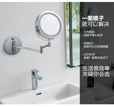 Bathroom Mirrors With Led Lights by Makeup Mirrors Led Wall Mounted Extending Folding Double Side Led