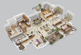 1 Bedroom House Floor Plans 50 Three U201c3 U201d Bedroom Apartment House Plans Roommate Bedrooms