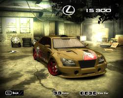 lexus cars nfsmw nfs most wanted 2005 lexus is 300 by 850i on deviantart