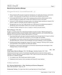 sample of executive resume manufacturing manager resume samples u0026 examples