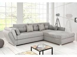 canapé tissu gris clair convertible en métal tissu gris clair steinmar 300 cm