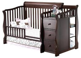 Baby Crib That Converts To Toddler Bed Baby Crib Convert Toddler Bed And Changer Guard Rail Cherry Cribs