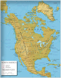 Nord America Map by North America Map North America Atlas North America Travel Map