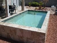 prefabricated pools mpspages sedona fiberglass pool 01