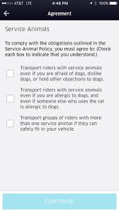 uber tells its drivers to accept service animals or lose their job