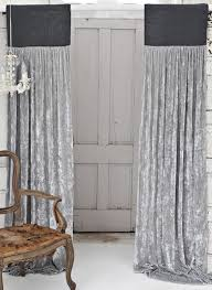 Slate Gray Curtains District17 Platinum Silk Velvet With Slate Grey Jute