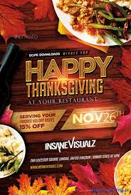 thanksgiving flyer free templates happy thanksgiving