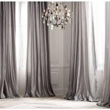 PLATINUM SILK Curtain Dupioni Silk Grey Silver Window Dressing - Home decor curtain