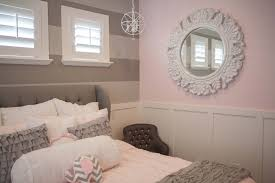 Pink And White Striped Bedroom Walls Pink And Gray Bedroom Www Elliebeandesign Com Home Decor Ideas