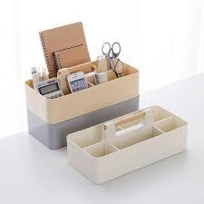boite bureau boîtes de bureau cosmétiques boîte de rangement en bois poignée