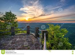 Kentucky mountains images Scenic sunset appalachian mountains kingdom come state park jpg